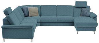 WOHNLANDSCHAFT in Textil Blau  - Blau/Alufarben, Design, Textil/Metall (265/333/170cm) - Dieter Knoll