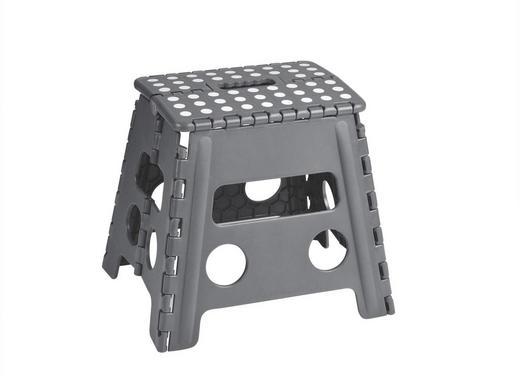 KLAPPHOCKER Grau - Grau, Kunststoff (37/32/30cm) - Justinus