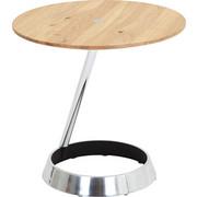 Beistelltisch in Alufarben, Eichefarben, Schwarz - Eichefarben/Alufarben, Design, Holz/Metall (55/53cm) - Venjakob