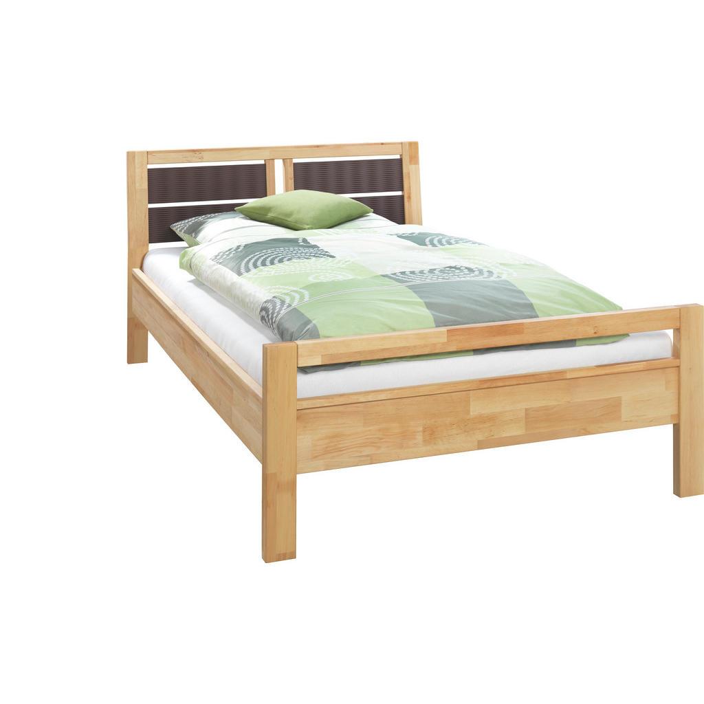 Wunderbar Bett 120 Cm X 200 Cm In Holz Braun, Erlefarben