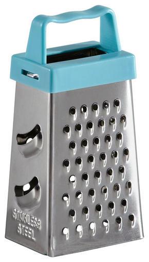 RIVJÄRN - ljusblå/rostfritt stål-färgad, Basics, metall/plast (17/7,9/2,5cm) - Fackelmann