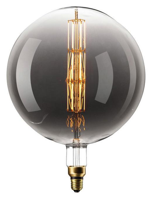LED-Leuchtmittel E27 - Grau, Design, Glas (30/38,6cm)