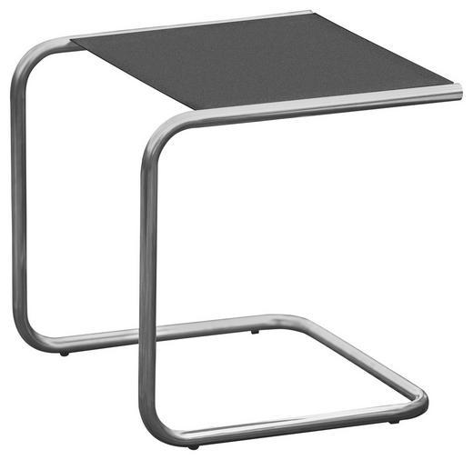 GARTENBEISTELLTISCH - Alufarben/Schwarz, Design, Metall (40/40/40cm)