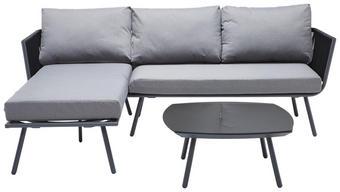 LOUNGEGARNITUR Aluminium, Stahl - Grau, Design, Glas/Textil (134/213cm) - Ambia Garden