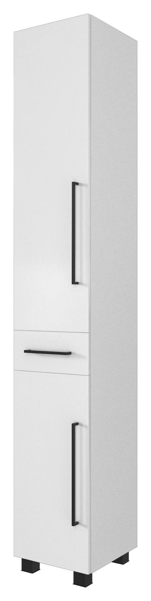 SEITENSCHRANK Weiß - Schwarz/Weiß, Design, Holzwerkstoff/Kunststoff (30/180/35cm) - Carryhome