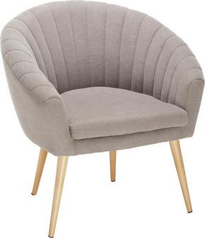 FÅTÖLJ - brun/naturfärgad, Design, textil (75/77/45/66cm)