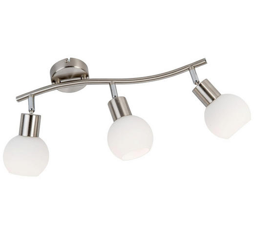 LED SVÍTIDLO - bílá, Design, kov/sklo (44cm) - Novel