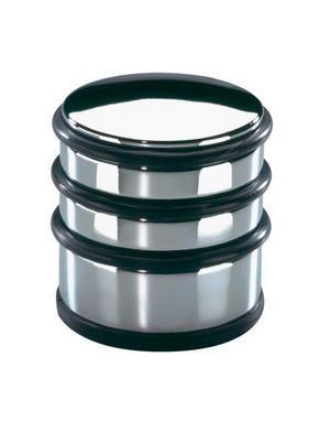 DÖRRSTOPP - silver/svart, Basics, metall/plast (6,5/6,5/7,0cm) - Justinus