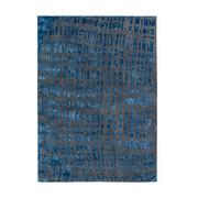 flachwebeteppich 90 160 cm blau grau blau grau textil 90