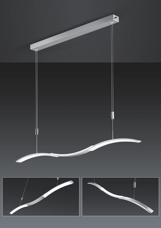 LED-HÄNGELEUCHTE - Design, Glas/Metall (120/150cm) - Bankamp