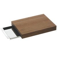 SCHNEIDEBRETT Holz, Metall  - Basics, Holz/Metall (26/36cm) - WMF