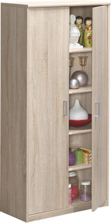 ORMAR VIŠENAMJENSKI - boje hrasta/boje srebra, Konvencionalno, drvni materijal/plastika (72/148/36cm) - CS SCHMAL