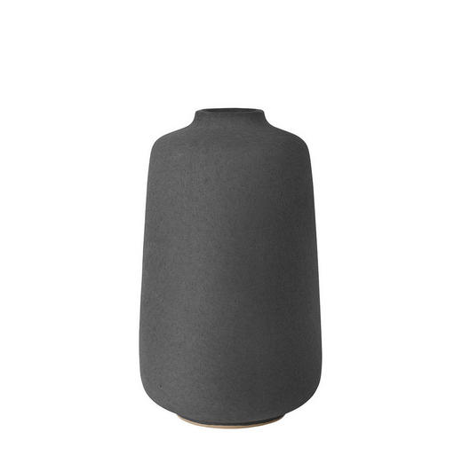 VASE 24 cm - Dunkelgrau, Basics, Keramik (24cm) - Blomus