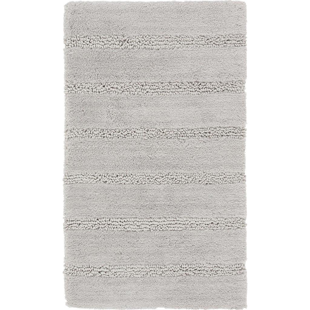 Kleine Wolke Badteppich in grau 60/60 cm