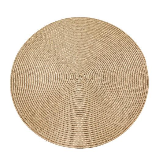 PLATZDECKCHEN Kunststoff Sandfarben 38 cm - Sandfarben, Basics, Kunststoff (38cm) - Ambia Home