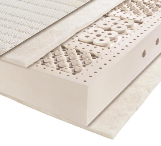 LATEXMATRATZE 90/200 cm - Weiß, Basics, Textil (90/200cm) - Novel