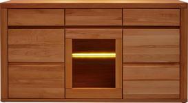 SIDEBOARD 170,4/91,6/42 cm  - Buchefarben, KONVENTIONELL, Glas/Holz (170,4/91,6/42cm) - Voleo