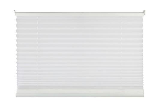 PLISSEE  Verdunkelung  100/130 cm - Weiß, Basics, Textil (100/130cm)