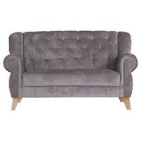 Dvosed  odtenki umazano rjave tekstil - odtenki umazano rjave/hrast, Trend, tekstil/les (172/99/82cm) - CARRYHOME