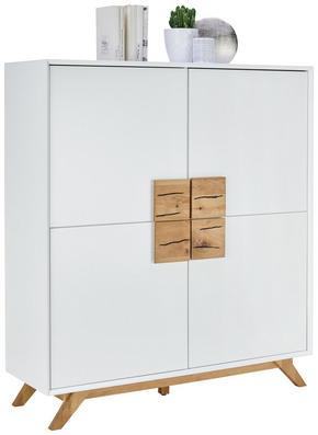 BYRÅ - vit/ekfärgad, Design, trä/träbaserade material (120/133/40cm) - Xora
