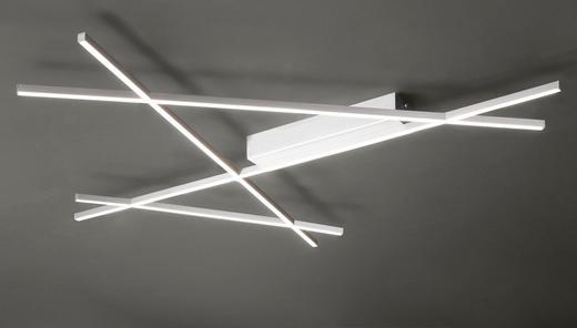 LED STROPNÍ SVÍTIDLO - barvy niklu, Design, kov (102/91/5,7cm) - Ambiente
