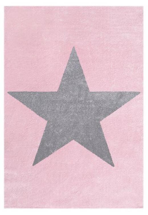 KINDERTEPPICH  160/230 cm  Grau, Rosa, Silberfarben - Silberfarben/Rosa, Basics, Textil (160/230cm)