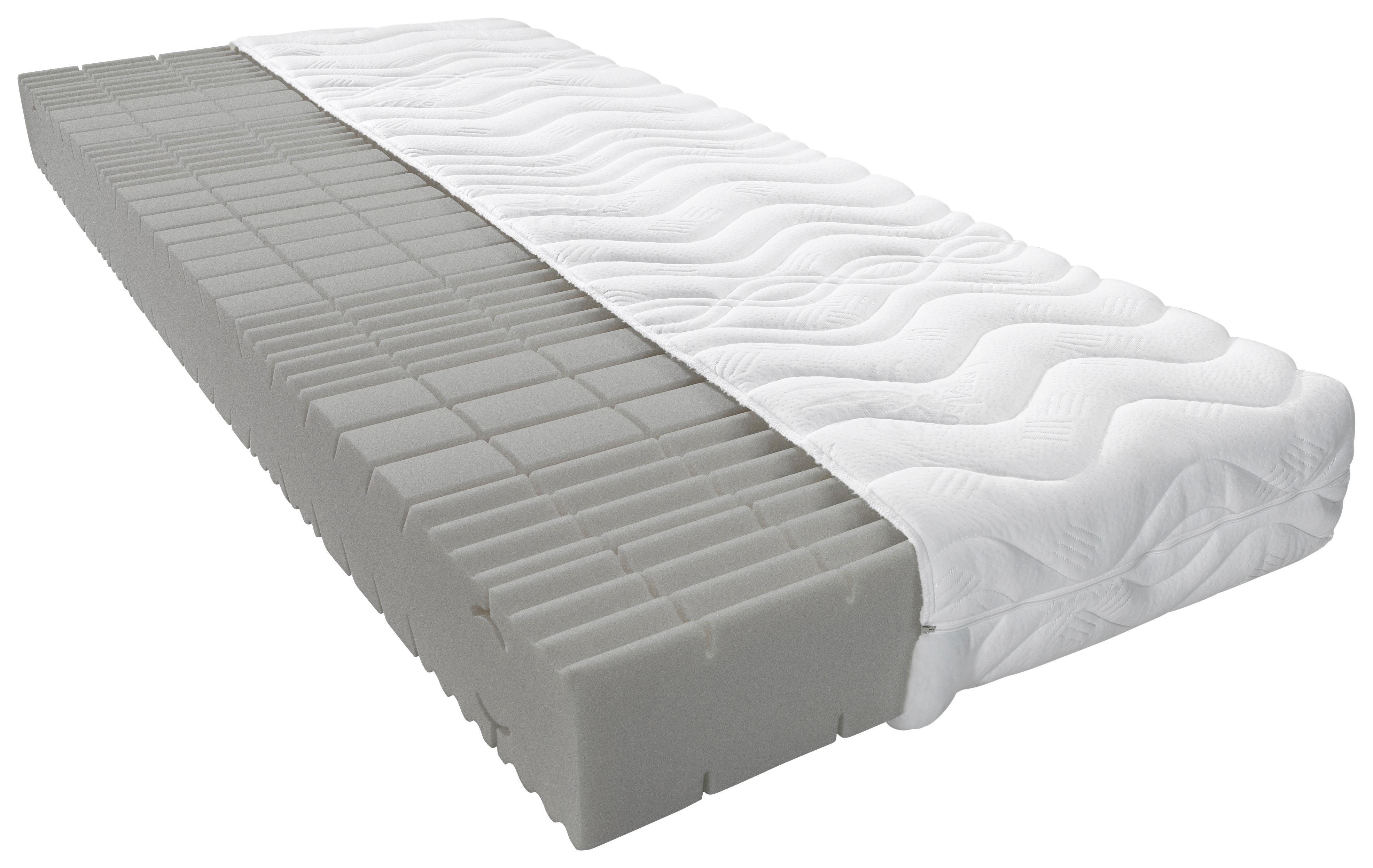 Polyurethanschaumkern MATRATZE 90/200 Cm   Weiß, Basics, Textil (90/200cm