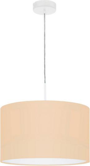 TAKLAMPA - vit/ljusrosa, Trend, metall/textil (38/110cm)