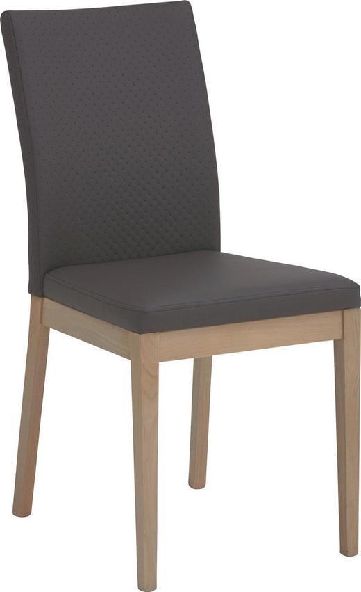 STUHL in Holz, Textil Braun, Eichefarben - Eichefarben/Braun, Natur, Holz/Textil (47/95/47cm) - Cantus