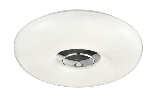 LED-DECKENLEUCHTE - Chromfarben/Weiß, Design, Kunststoff/Metall (30/7cm)