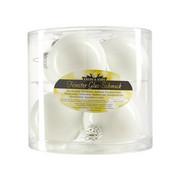 CHRISTBAUMKUGEL-SET 6-teilig - Weiß, KONVENTIONELL, Glas (8cm)