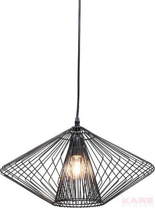 HÄNGELEUCHTE - Schwarz, Design, Metall (45/28/45cm) - Kare-Design