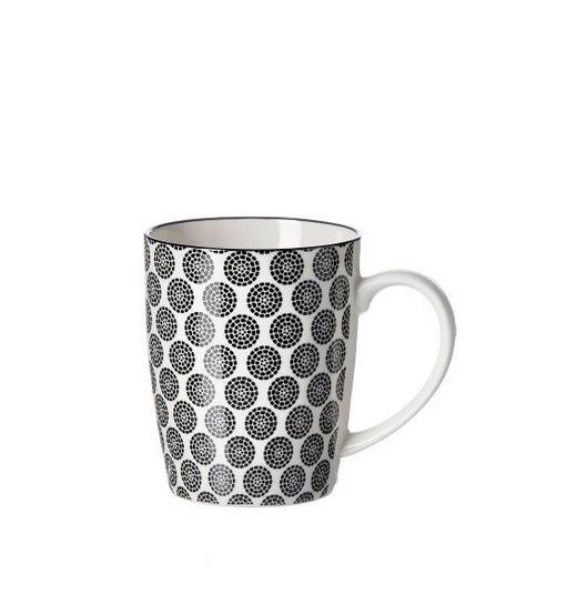 KAFFEEBECHER 350 - Schwarz/Weiß, Trend, Keramik (0,350l) - Ritzenhoff Breker