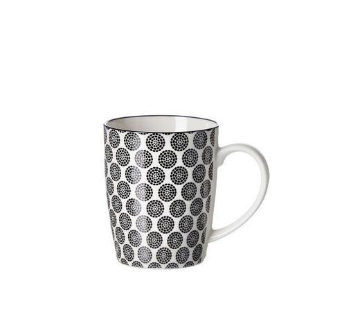 KAFFEEBECHER 350 ml  - Schwarz/Weiß, Trend, Keramik (0,350l) - Ritzenhoff Breker