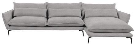 WOHNLANDSCHAFT in Textil Beige  - Beige/Schwarz, Design, Textil/Metall (338/165cm) - Hom`in