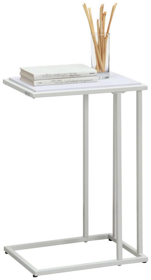 Beistelltisch in Weiß - Weiß, Design, Holzwerkstoff/Metall (30/60/40cm) - Carryhome
