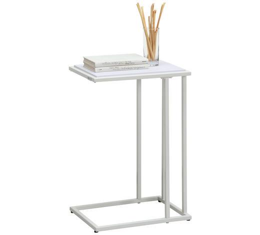 BEISTELLTISCH in Metall, Holzwerkstoff  - Weiß, Design, Holzwerkstoff/Metall (30/60/40cm) - Carryhome
