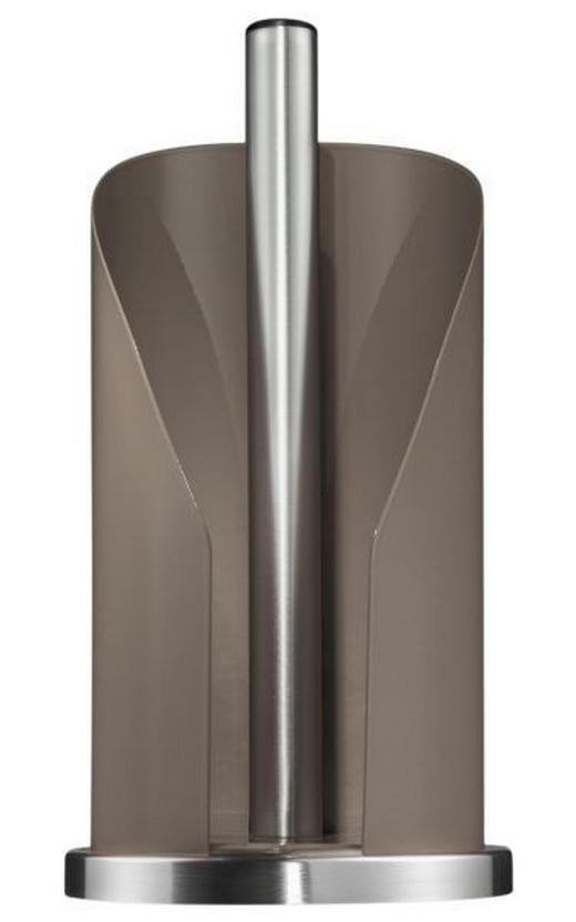 KÜCHENROLLENHALTER - Edelstahlfarben/Grau, Basics, Metall (15,6/35,2cm) - WESCO
