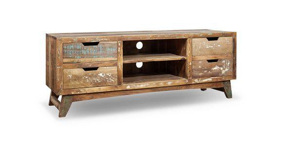TV-ELEMENT Recyclingholz massiv Multicolor - Multicolor, LIFESTYLE, Holz (150/55/45cm) - LANDSCAPE
