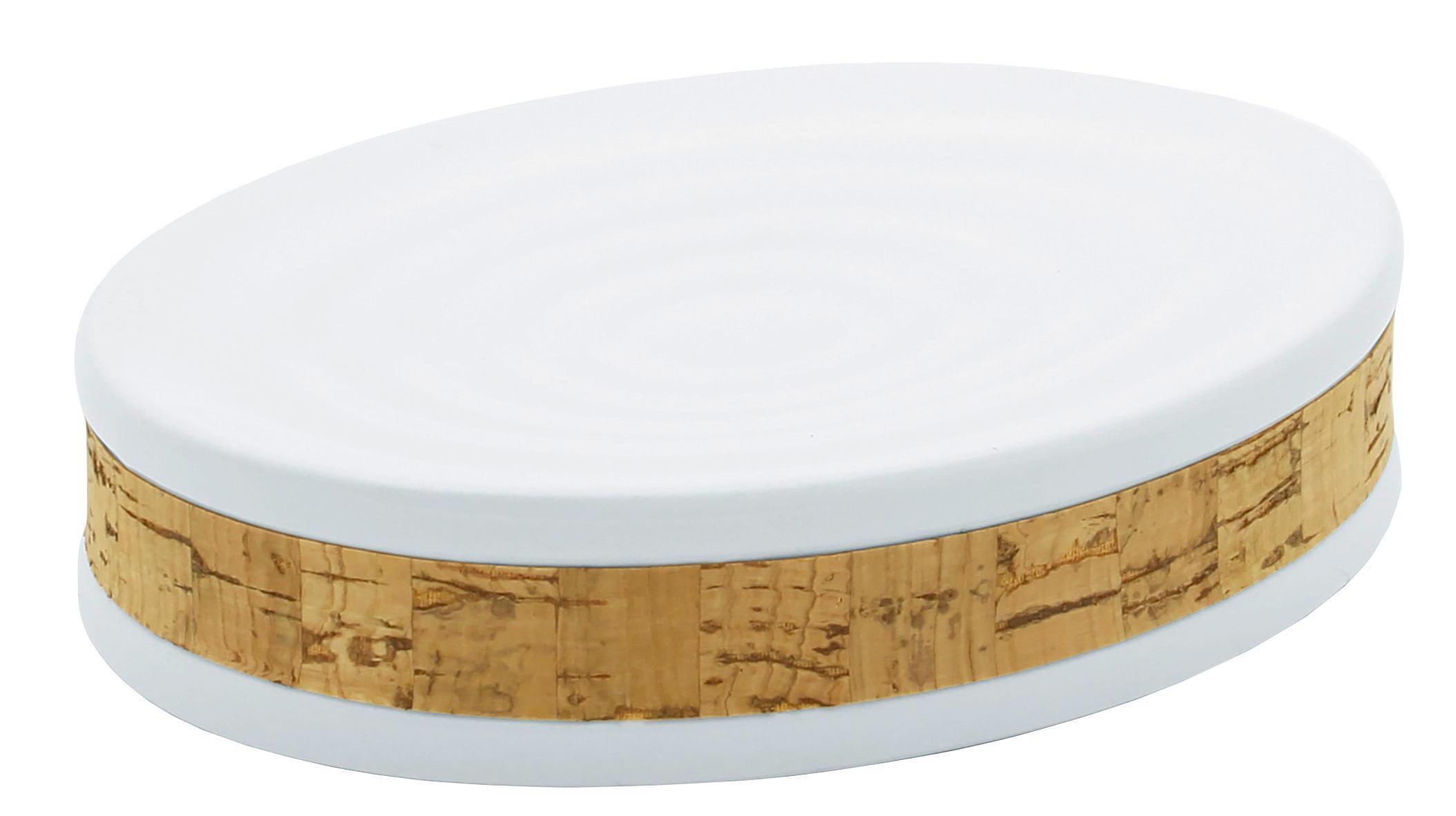 MÝDLENKA - bílá/hnědá, Basics, dřevo/keramika (13,5/3/10cm) - CELINA