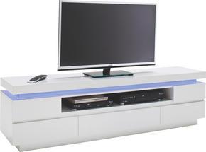 MEDIABÄNK - vit, Design, träbaserade material (175/49/40cm)