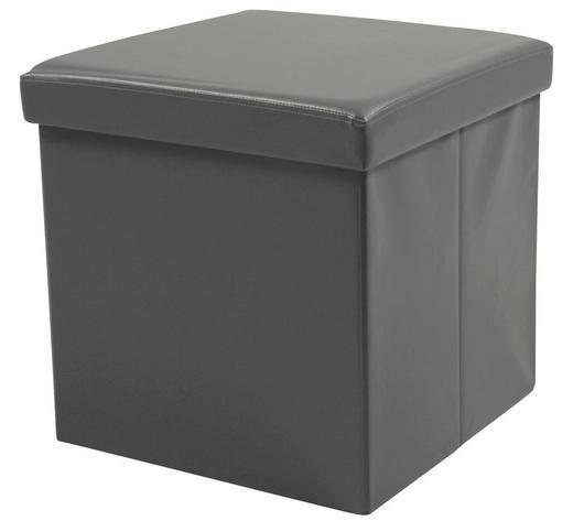 SITZWÜRFEL Lederlook Grau - Grau, Basics, Textil (40/40/40cm) - Carryhome