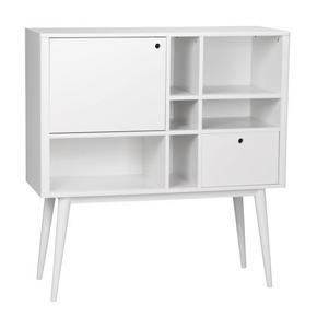 HIGHBOARD - vit, Design, trä/träbaserade material (120/125/45cm) - Rowico