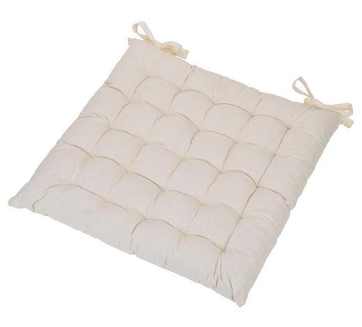 SITZKISSEN 40/40/3 cm - Weiß, Basics, Textil (40/40/3cm) - Boxxx