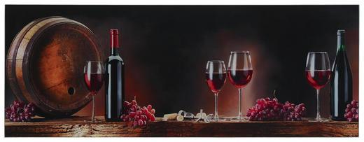 GLASBILD - Multicolor, KONVENTIONELL, Glas (80/30cm) - Monee