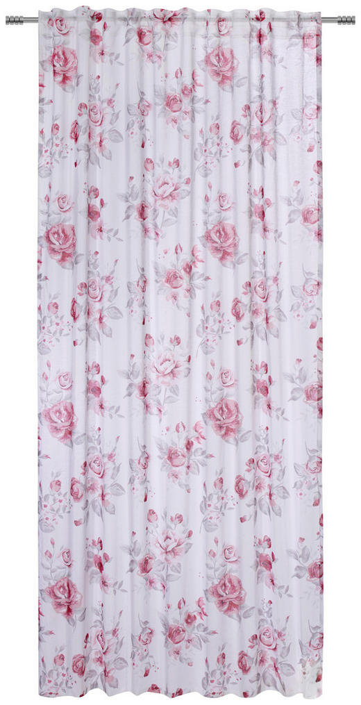 FERTIGVORHANG  halbtransparent  135/245 cm - Rosa/Weiß, Trend, Textil (135/245cm) - Esposa