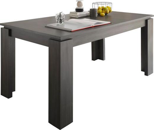 ESSTISCH rechteckig Eschefarben, Grau - Eschefarben/Grau, Design, Holzwerkstoff (160(200)/90/77cm) - Carryhome