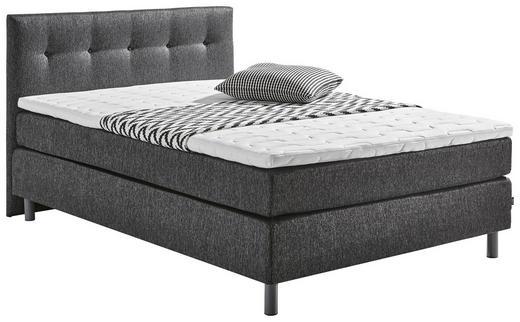 KONTINENTALSÄNG - mörkgrå/grå, Design, metall/textil (140/200cm) - Carryhome