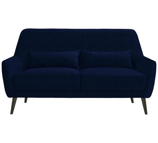 DREISITZER-SOFA in Textil Blau - Blau/Schwarz, Trend, Holz/Textil (160/86/80cm) - Carryhome