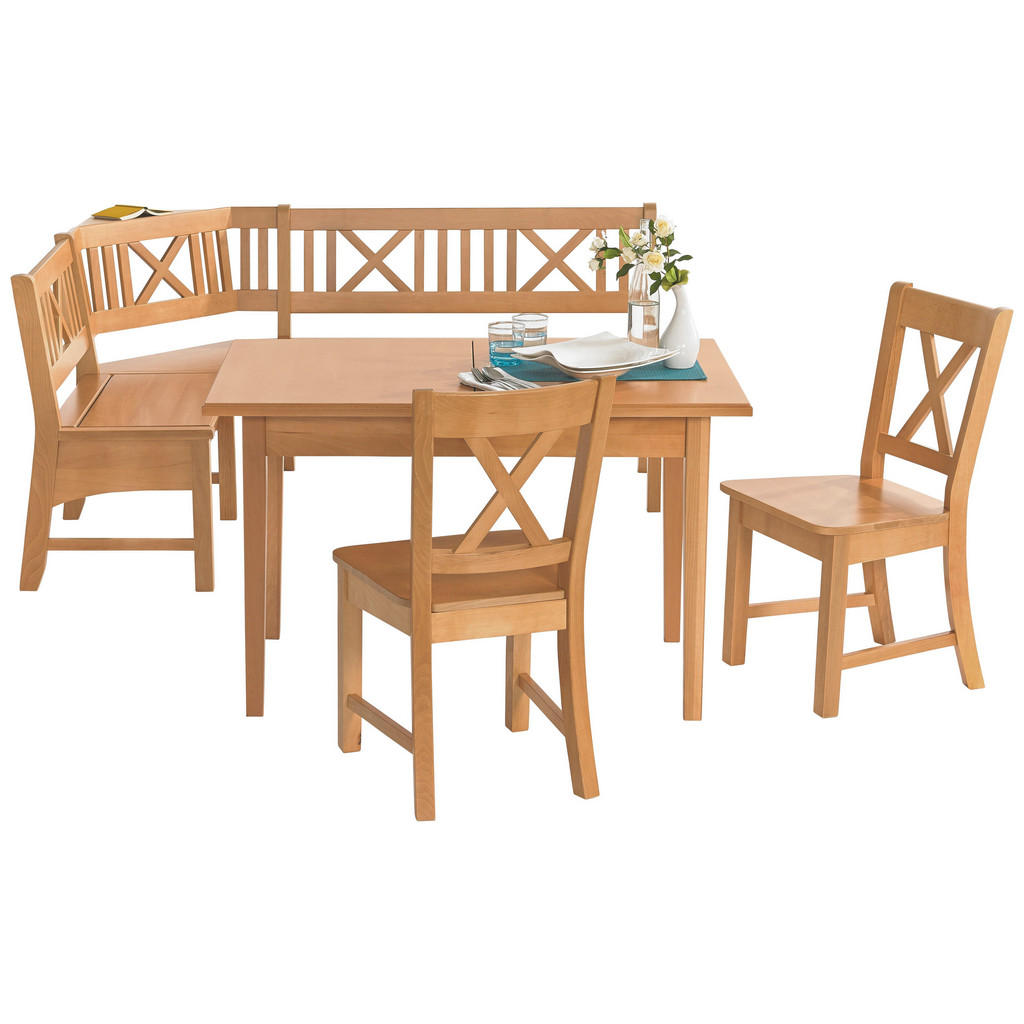 Venda ECKBANKGRUPPE Buche massiv Braun | Küche und Esszimmer > Essgruppen > Eckbankgruppen | Braun | Holz | Venda